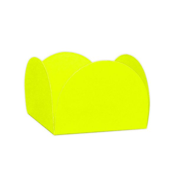 Forminhas para Doces 4 Pétalas Amarela Neon 50 unidades NC Toys Rizzo Embalagens