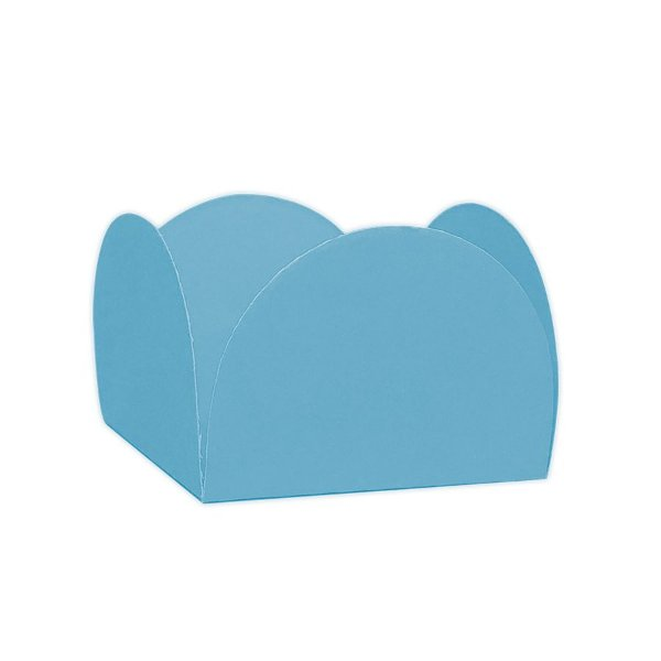 Forminhas para Doces 4 Pétalas Azul Céu 50 unidades NC Toys Rizzo Embalagens