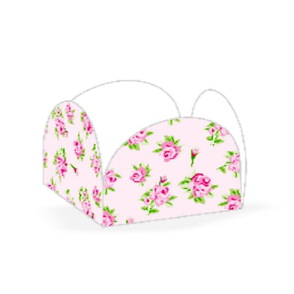 Forminhas para Doces 4 Pétalas Floral Rosa 50 unidades NC Toys Rizzo Embalagens