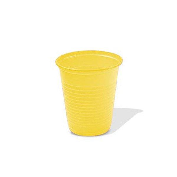 Copo Festa Descartável 200ml Amarelo 50 unidades Trik Trik Rizzo Embalagens