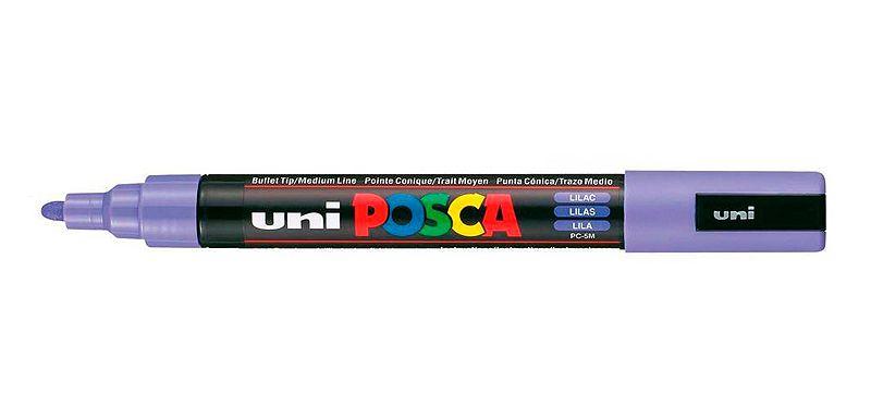 Caneta Posca PC-5M 2,5mm Lilac_Lilas - 01 unidade - Uni Posca - Rizzo Embalagens