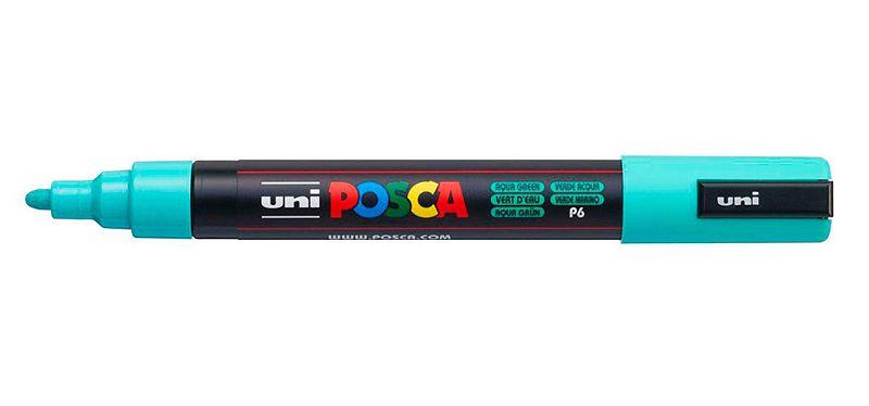 Caneta Posca PC-5M 2,5mm Aqua Green_Verde Agua - 01 unidade - Uni Posca - Rizzo Embalagens