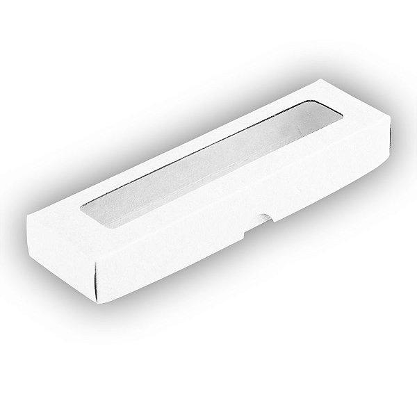 Caixa com Visor S00 (4cm x 15,5cm x 2cm) Branca 10 unidades Assk Rizzo Embalagens