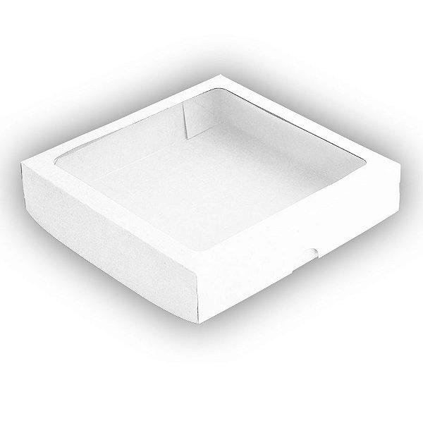 Caixa 25 Doces com Visor S8 (19cm x 19cm x 4cm) Branca 10 unidades Assk Rizzo Embalagens