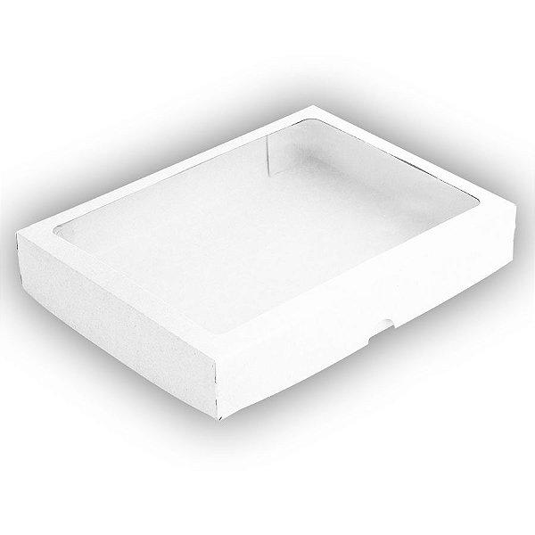 Caixa 24 Doces com Visor S9 (19cm x 25cm x 4cm) Branca 10 unidades Assk Rizzo Embalagens