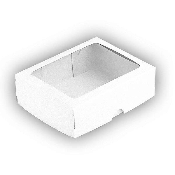 Caixa com Visor S18 (11,5cm x 15,5cm x 3,5cm) Branca 10 unidades Assk Rizzo Embalagens