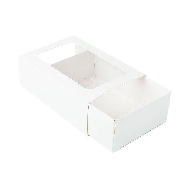 Caixa Gaveta com Visor Nº2 (8cm x 12cm x 4cm) Branca 10 unidades Assk Rizzo Embalagens