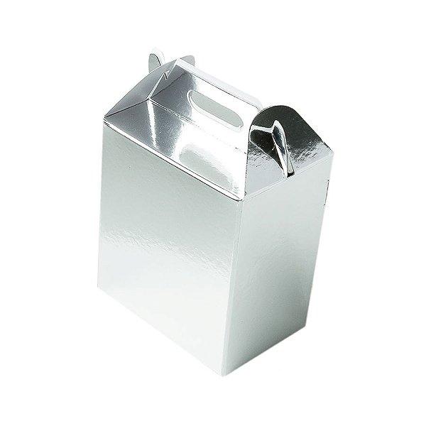 Caixa Sacolinha S2 (14cm x 11cm x 6cm) Prata 10 unidades Assk Rizzo Embalagens