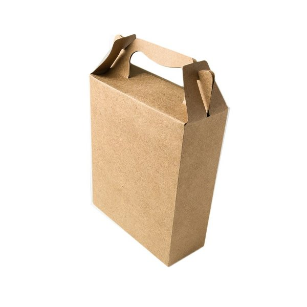 Caixa Sacolinha S3 (18cm x 16m x 6cm) Kraft 10 unidades Assk Rizzo Embalagens