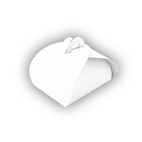 Caixa Sacolinha 4 Brigadeiros (8cm x 8cm x 6cm) Branca 10 unidades Assk Rizzo Embalagens