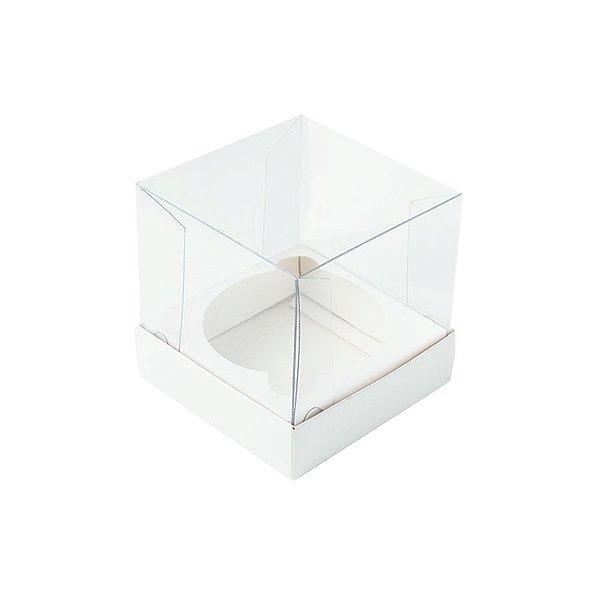 Caixa Mini Bolo M (7cm x 7cm x 7cm) Branca 10 unidades Assk Rizzo Embalagens