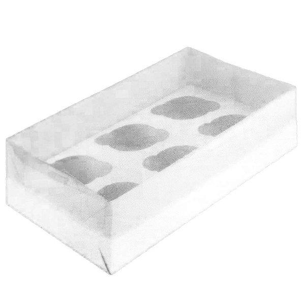 Caixa para Transporte 6 Cupcakes (30cm x 18cm x 8cm) Branca 5 unidades Assk Rizzo Embalagens