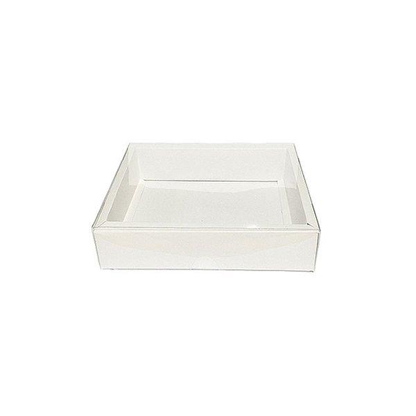 Caixa com Tampa Transparente PVC Nº 5 (9cm x 12cm x 4cm) Branca 10 unidades Assk Rizzo Embalagens