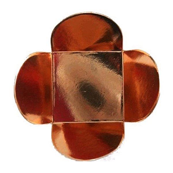 Forminha para Doces 4 Pétalas (3,5cm x 3,5cm x 2,5cm) Bronze 50 unidades Assk Rizzo Embalagens