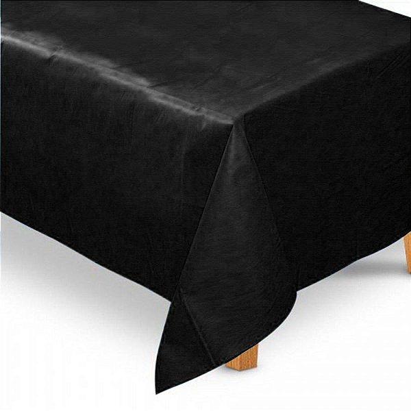 Toalha de Mesa Retangular em TNT (1,40m x 2,20m) Preta - Best Fest - Rizzo Embalagens