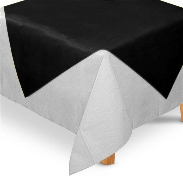 Toalha de Mesa Quadrada Cobre Mancha em TNT (70cm x 70xm) Preta 5 unidades - Best Fest - Rizzo Embalagens