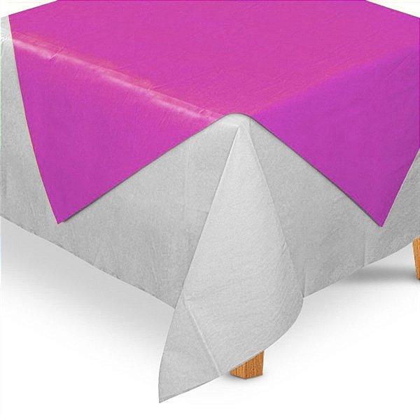 Toalha de Mesa Quadrada Cobre Mancha em TNT (70cm x 70xm) Rosa Pink 5 unidades - Best Fest - Rizzo Embalagens