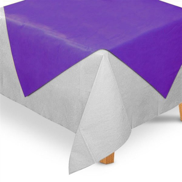 Toalha de Mesa Quadrada Cobre Mancha em TNT (70cm x 70xm) Roxa 5 unidades - Best Fest - Rizzo Embalagens