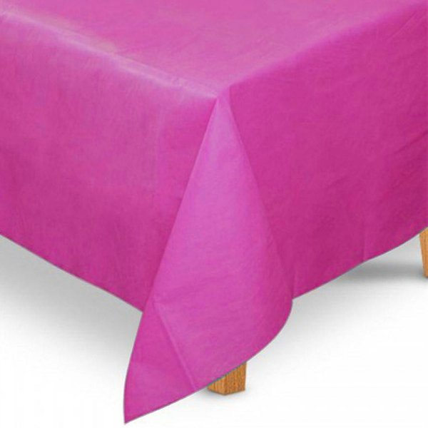 Toalha de Mesa Quadrada em TNT (80cm x 80cm) Rosa Pink 5 unidades - Best Fest - Rizzoembalagens