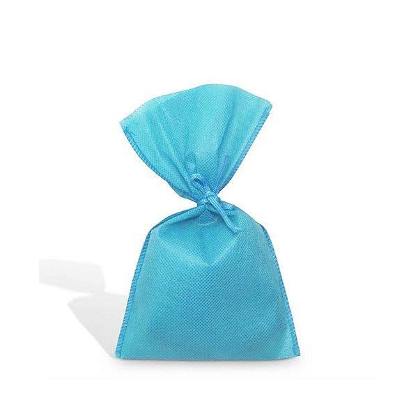 Saquinho para Lembrancinha em TNT (13cm x 25cm) Azul Claro 10 unidades - Best Fest - Rizzoembalagens