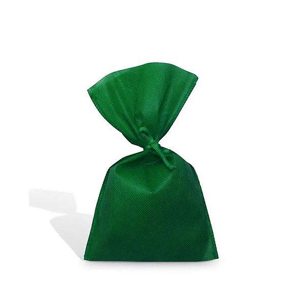 Saquinho para Lembrancinha em TNT (13cm x 25cm) Verde Bandeira 10 unidades - Best Fest - Rizzoembalagens