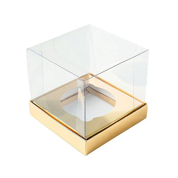 Caixa Mini Bolo GG (10cm x 10cm x 10cm) Dourada 10 unidades Assk Rizzo Embalagens
