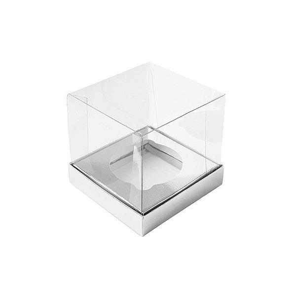 Caixa Mini Bolo M (7cm x 7cm x 7cm) Prata 10 unidades Assk Rizzo Embalagens
