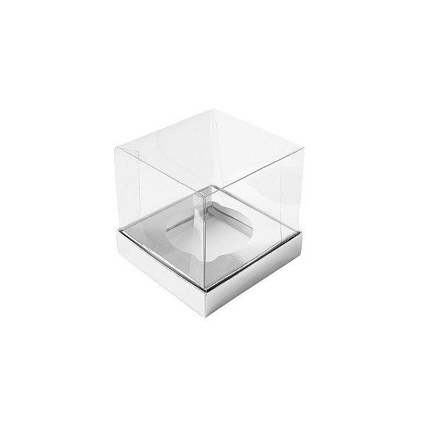 Caixa Mini Bolo PP (4cm x 4cm x 4cm) Prata 10 unidades Assk Rizzo Embalagens