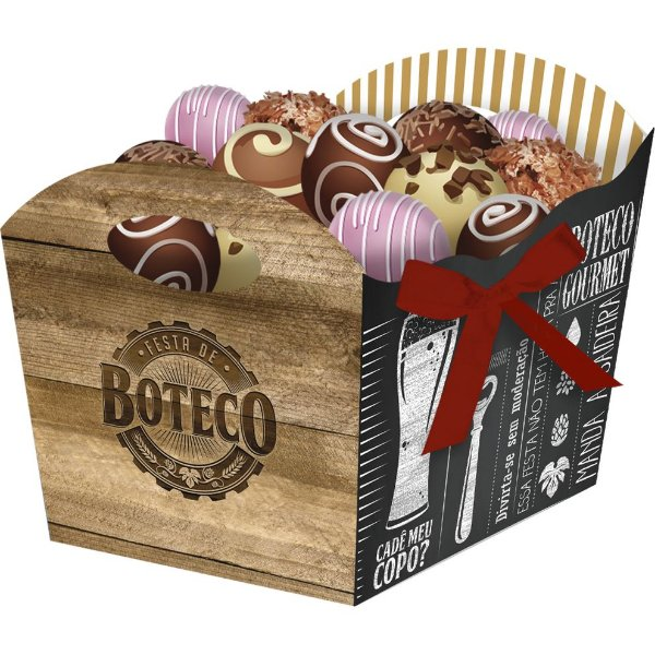 Cachepot Festa Boteco - 8 unidades - Festcolor - Rizzo Festas