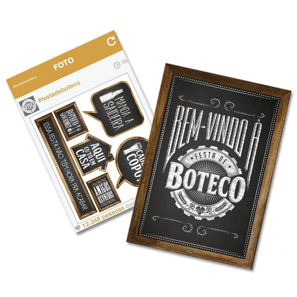 Kit Decorativo Festa Boteco - 8 Itens - Festcolor - Rizzo Festas