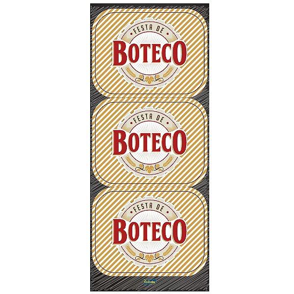 Adesivo Retangular Festa Boteco - 12 unidades - Festcolor - Rizzo Festas