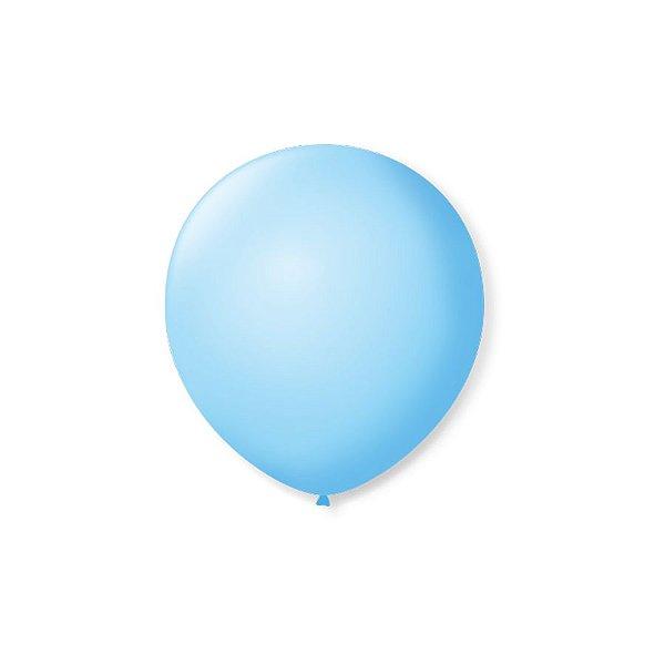 Balão de Festa Latex 5'' 13cm - Azul Baby - 50 unidades - São Roque - Rizzo Festas