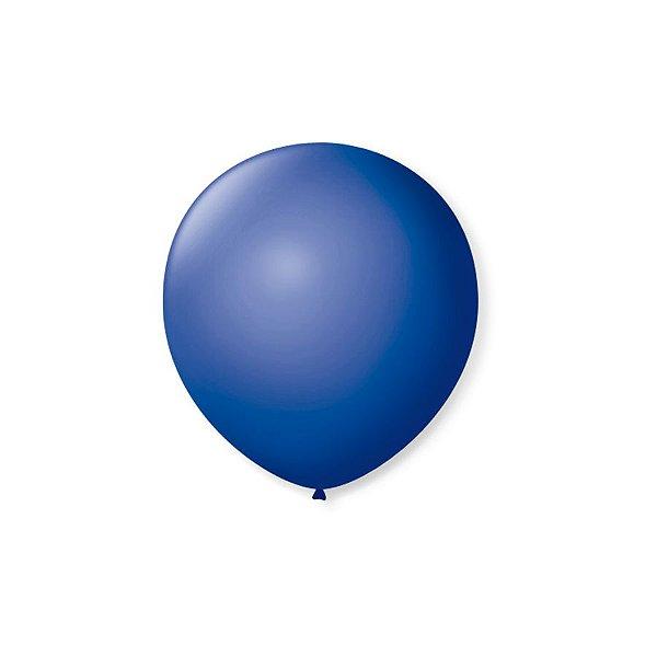Balão de Festa Latex 5'' 13cm - Azul Cobalto - 50 unidades - São Roque - Rizzo Festas