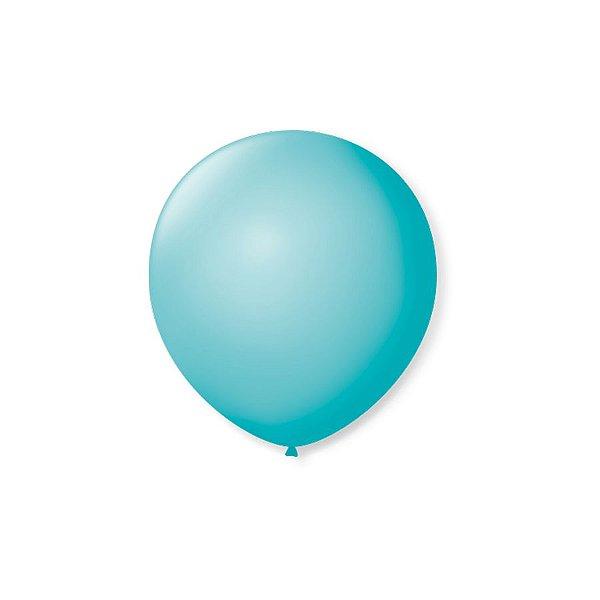 Balão de Festa Latex 5'' 13cm - Azul Oceano - 50 unidades - São Roque - Rizzo Festas