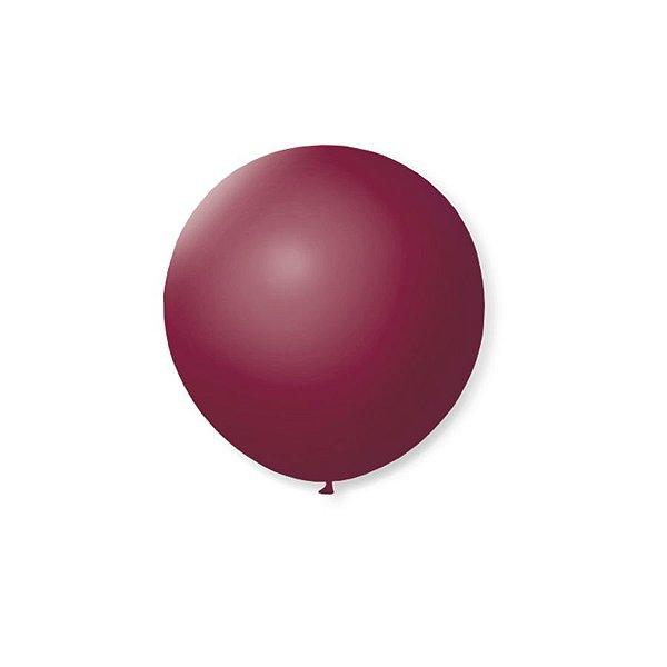 Balão de Festa Latex 5'' 13cm - Bordo - 50 unidades - São Roque - Rizzo Festas