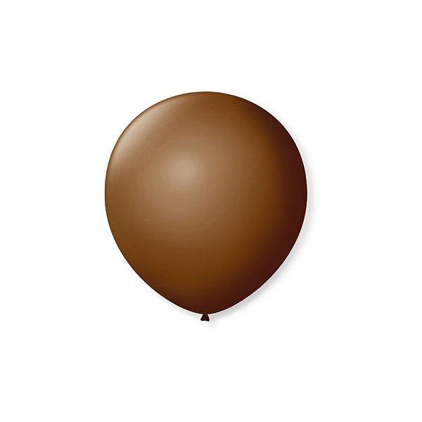 Balão de Festa Latex 5'' 13cm - Café Brasil - 50 unidades - São Roque - Rizzo Festas