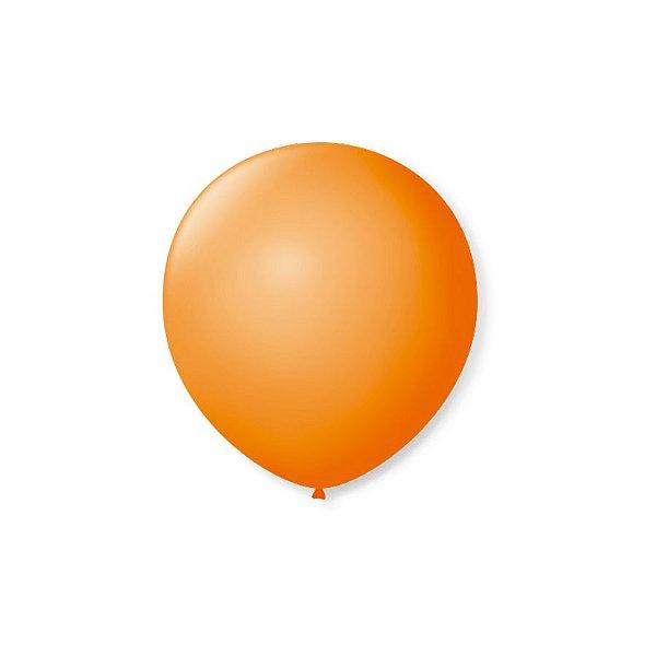 Balão de Festa Latex 5'' 13cm - Laranja Mandarim - 50 unidades - São Roque - Rizzo Festas