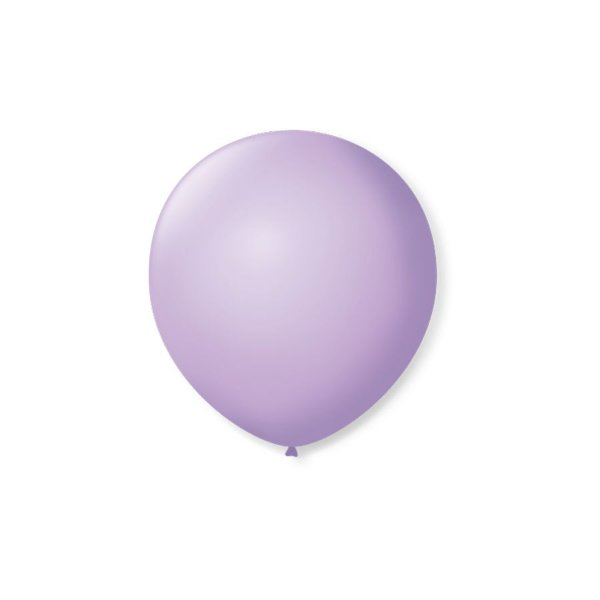 Balão de Festa Latex 5'' 13cm - Lilás Baby - 50 unidades - São Roque - Rizzo Festas