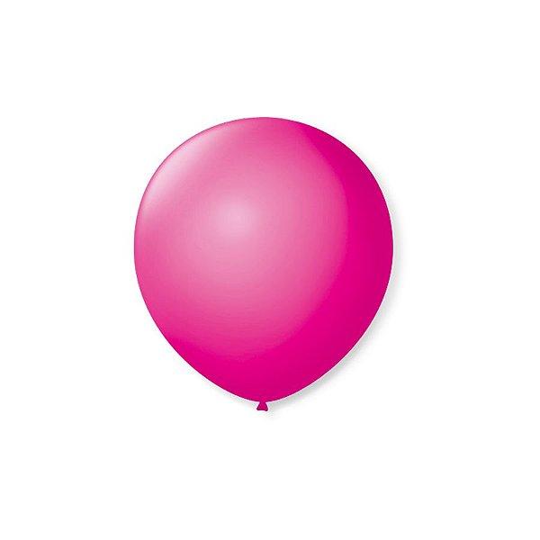 Balão de Festa Latex 5'' 13cm - Rosa Shock - 50 unidades - São Roque - Rizzo Festas