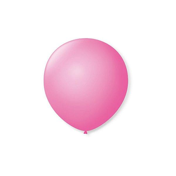 Balão de Festa Latex 5'' 13cm - Rosa Tutti Frutti - 50 unidades - São Roque - Rizzo Festas
