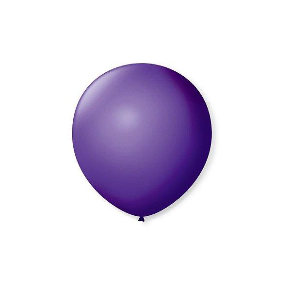 Balão de Festa Latex 5'' 13cm - Roxo Uva - 50 unidades - São Roque - Rizzo Festas