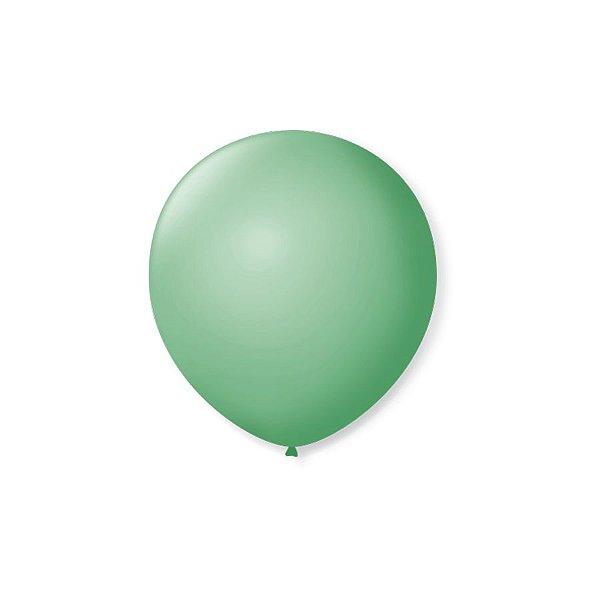 Balão de Festa Latex 5'' 13cm - Verde Lima - 50 unidades - São Roque - Rizzo Festas