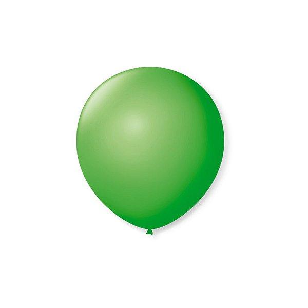 Balão de Festa Latex 5'' 13cm - Verde Maça - 50 unidades - São Roque - Rizzo Festas