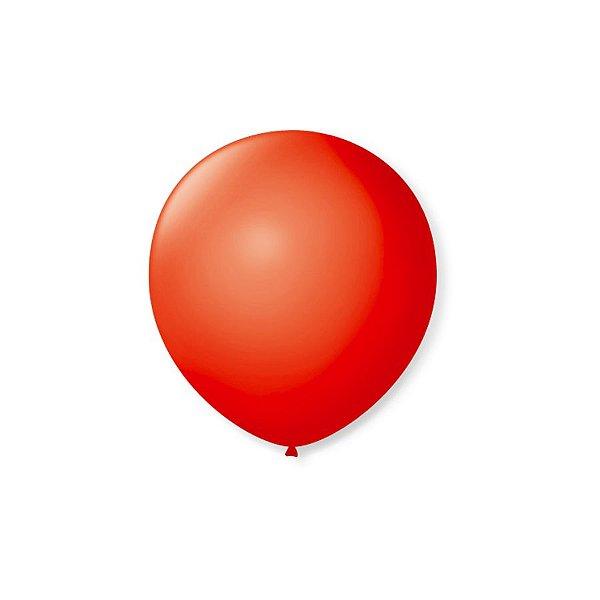 Balão de Festa Latex 5'' 13cm - Vermelho Quente - 50 unidades - São Roque - Rizzo Festas