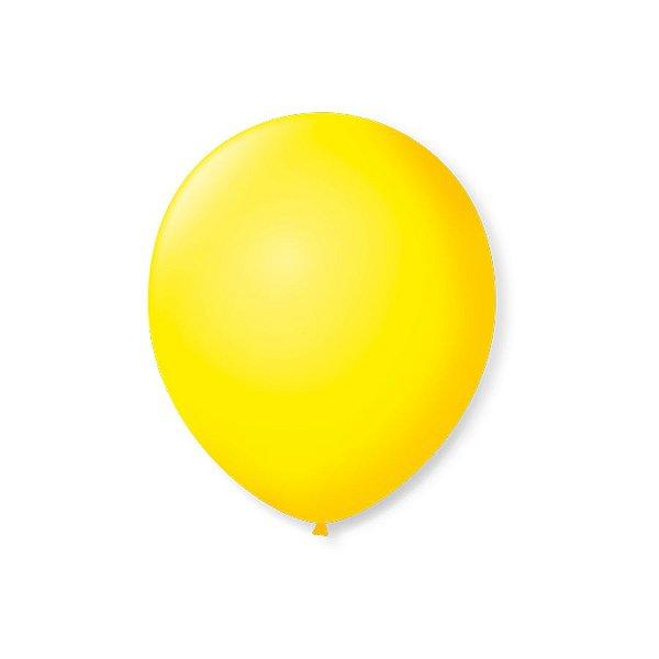 Balão de Festa Latex 7'' 18cm - Amarelo Citrino - 50 unidades - São Roque - Rizzo Festas