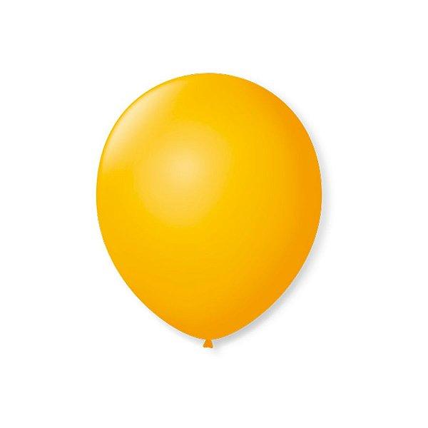 Balão de Festa Latex 7'' 18cm - Amarelo Sol - 50 unidades - São Roque - Rizzo Festas