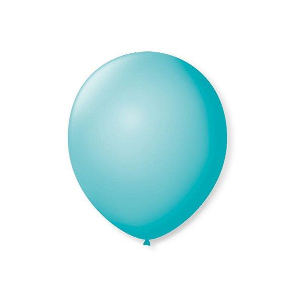 Balão de Festa Latex 7'' 18cm - Azul Oceano - 50 unidades - São Roque - Rizzo Festas