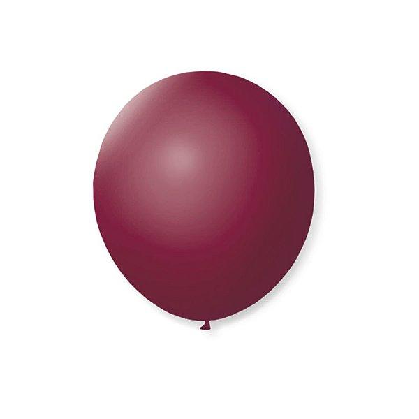 Balão de Festa Latex 7'' 18cm - Bordo - 50 unidades - São Roque - Rizzo Festas