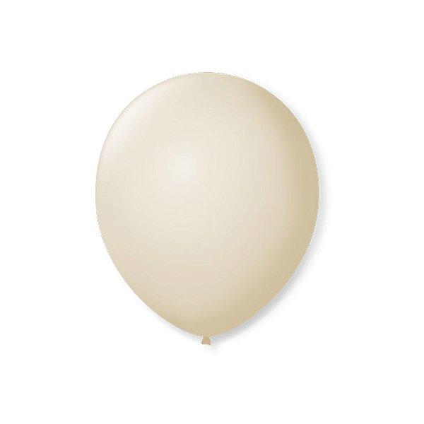 Balão de Festa Latex 7'' 18cm - Champagne - 50 unidades - São Roque - Rizzo Festas