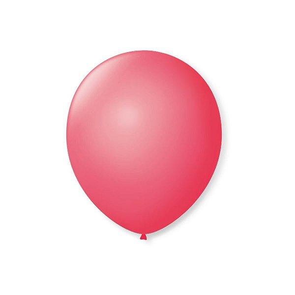 Balão de Festa Latex 7'' 18cm - Rosa Pink - 50 unidades - São Roque - Rizzo Festas